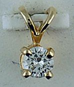 1/5ct Diamond Solitaire Pendant