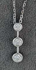 1/6ctw Past, Present and Future Pendant on a Chain