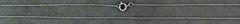 """18"""" White Gold Fine Link Pendant Chain"""