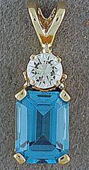 Diamond and Topaz Pendant