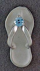 Blue Stone Flip Flop Charm