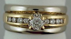 Ladies 5/8ctw Diamond Wedding and Engagement Set