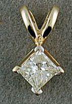 1/4ct Princess cut Diamond Pendant