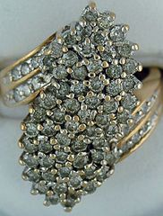 Ladies 1.98ctw Diamond Cluster Ring