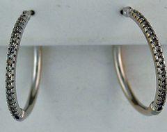 1/3ctw Diamond Hoop Earrings