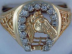Gentleman's 1/4ctw Diamond Horse Ring
