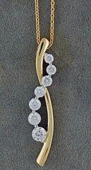 3/4ctw Diamond Journey Pendant on a Chain