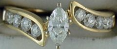 Ladies 1ctw Marquise and Channel Set Diamond Ring