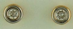 1/5ctw Bezel Set Diamond Stud Earrings
