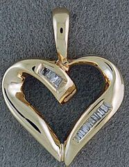 1/10ctw Diamond Heart Pendant