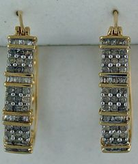 1ctw Diamond Hoop Earrings