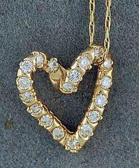 3/8ctw Diamond Heart Pendant on a Chain