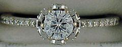 Ladies 3/4ctw Round Diamond Engagement Ring