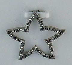 1/10ctw Diamond Star Pendant