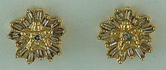 1/3ctw Diamond Flower Earrings