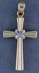 Two-Tone Cross Pendant
