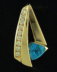 Blue Topaz and Diamond Slide