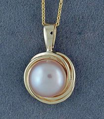 "Pearl Pendant on an 18"" Fine Link Chain"