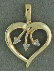 Diamond Chip Heart Pendant