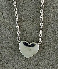 Platinum Necklace with a Heart Charm