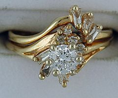 Ladies 1ctw Diamond Wedding and Engagement Set