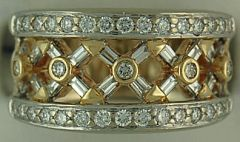 Ladies 3/4ctw Diamond Open Pattern Band