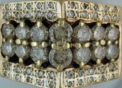 4-3/4ctw Gentleman's Cluster Ring