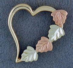 Black Hills Gold Heart Pendant