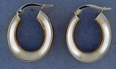 Yellow Gold Hollow Hoop Earrings