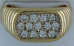 1/2ctw Gentleman's Diamond Ring