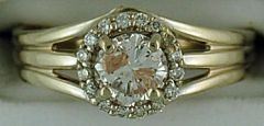 Ladies 9/10ctw Diamond Engagement Ring