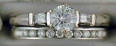Ladies 3/4ctw Diamond Wedding and Engagement Set