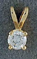 1/6ct Round Cut Diamond Pendant