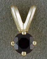 Ladies Yellow Gold and Garnet Pendant