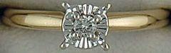 Ladies Diamond Chip Illusion Mount Solitaire