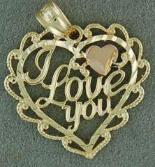 """I Love You"" Heart Pendant"