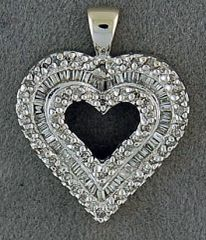 1/2ctw Diamond Heart Pendant