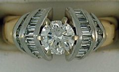 1-1/2ctw Diamond Two-Tone Engagement Ring
