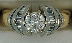 1-1/2ctw Diamond Two-Tone Engagement Ring