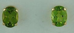 Oval Cut Peridot Earrings