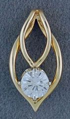 Ladies 3/8ct Free Form Diamond Pendant