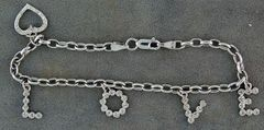 Ladies 1/5ct Diamond Charm Bracelet