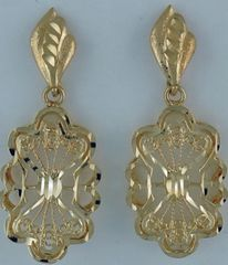 Ladies Filigree Style Danlge Earrings