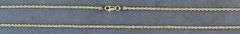 """18"""" Long and 1.5mm Wide Rope Chain"""