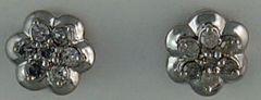 1/5ctw Diamond Flower Earrings