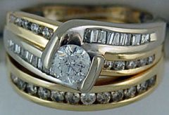 Ladies 1ctw Wedding and Engagement Set