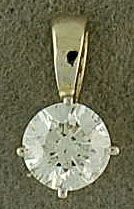5/8ct Round Cut Diamond Pendant