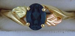 Blue Topaz Black Hills Gold Ring