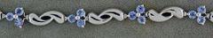 Ladies Purplish Stone Tennis Bracelet