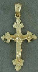 Yellow Gold Crucifix Pendant
